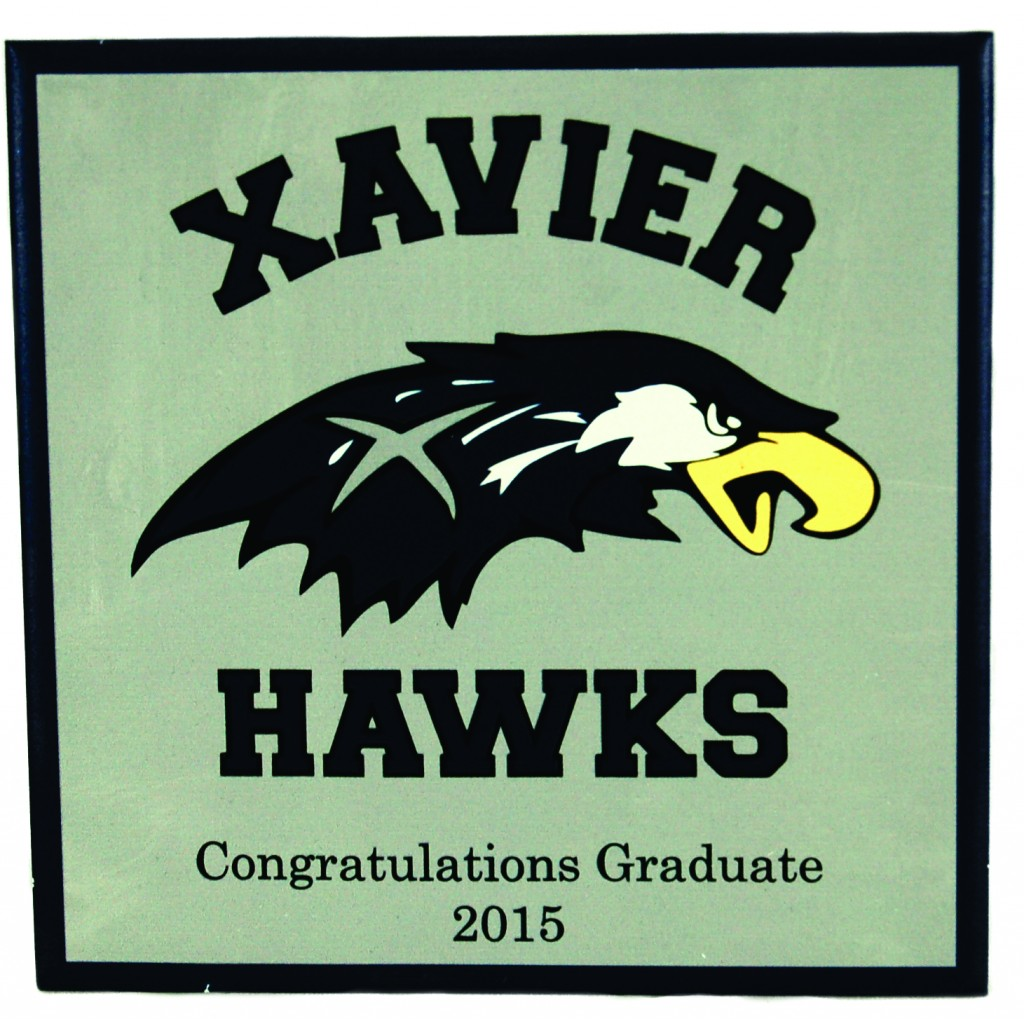 Xavier color printing - The Full Color Graduation Tile Would Make A Great Display Piece Or Memory Board It Is A Perfect Way To Highlight Your Graduate S Milestones Throughout The