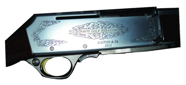 engraved gun stock