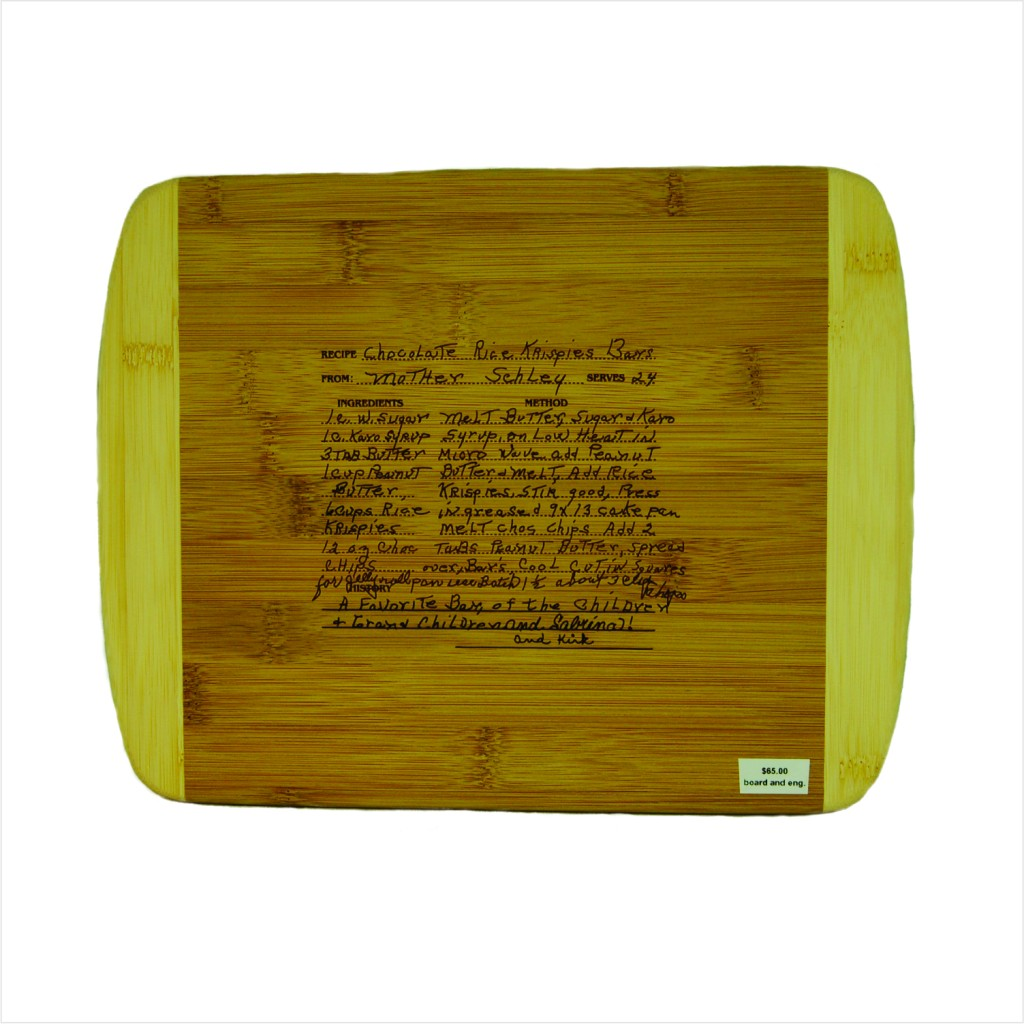 handwritten cutting board